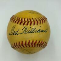 Rare 1948 Ted Williams Joe Mccarthy & Earle Combs Signed AL Baseball PSA DNA COA