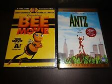 BEE MOVIE & ANTZ-2 Animated family DVDs-Jerry Seinfeld, Renee Zellweger-Comedies