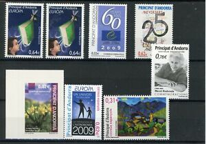 [311675] Spain Andorra after 2000 good lot very fine MNH stamps