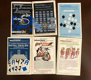 Bilingual Canadian Intellivision Manuals for Gaming and Strategy Networks, 1983