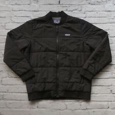 New Patagonia Quilted Bomber Jacket Size M Black Lightweight