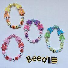 Child Kid Boy Girl Lost Safety Identity ID Phone Mobile Butterfly Bracelet Bead