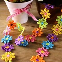 Embroidered Flower Applique Ribbon Trim DIY Handicrafts Headband Embellishment