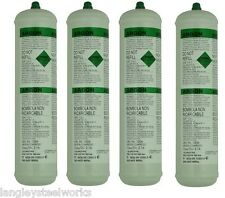 DISPOSABLE Pure Argon GAS BOTTLES FOR MIG WELDING x 4 cylinders
