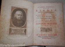 Books Prophetic Bible Book V Saverio Mattei 1774 from Psalm 119 to 150