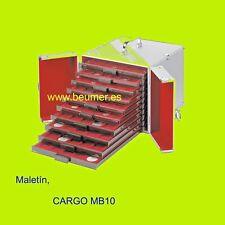 Maletín de aluminio: CARGO MB 10. 320x225x265mm.(Apto para 10 Bandejas.No incl.)