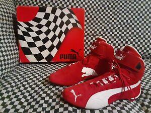 puma Future pro cat Hi racing shoe Scarlet  red  white  2000std new  euro 44