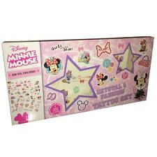Children's crystal & fashion tattoo set-disney minnie mouse