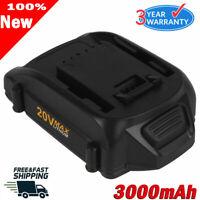 WA3520 For WORX 20 Volt 3.0Ah Cordless Max Battery Lithium WA3525 WG151 WA3578