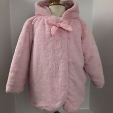 EUC Rothchild SIZE 3T Girls Faux Fur Coat Jacket Hood Pink