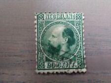 Nederland NVPH 10 Koning Willem III 1867-1868 20 cent groen gestempeld