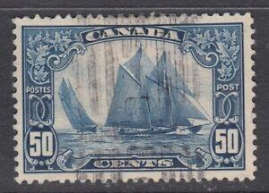 "Canada Scott #158  50 cent Bluenose ""KGV Scroll""  F"