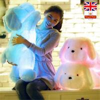 Luminous dog plush doll colorful LED glowing children Toys For girls Xmas Gift