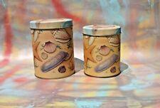 Sea Shell Pattern Round Nesting Tins, Set of 2 FREE SHIPPING!