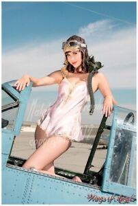 Wings of Angels Pin-Up Print Nina WWII SBD-4 Dauntless Cockpit Malak