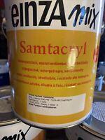 3 Liter Einza Mix Samtacryl Ral 7024 Graphitgrau Farbton Etikett  Restposten (3)