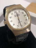 Vintage Very rare Bulova Accutron TswissT Watch Gold plated Bezel left crown.