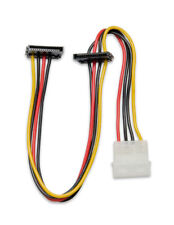 """12"""" Molex to Dual SATA Right Angle Power Cable (SY-CAB40018)"""