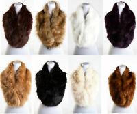 Women Winter Warm Faux Fur Fluffy Collar Soft Scarf Ladies Shawl Neck Long Wrap