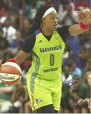 ODYSSEY SIMS Signed 8 x 10 Photo WNBA Basketball DALLAS WINGS Baylor Bears