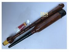 Real Sheesham Wood Bagpipes Practice Chanter +  2 Two Reeds