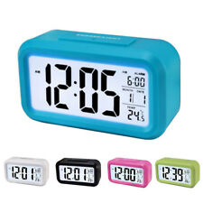 Battery Digital Alarm Clock with LCD Display Backlight Calendar Snooze UK