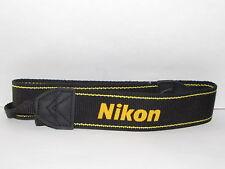 Nikon Digital SLR Camera Shoulder Strap Gnuine D5200 D5300 Black-Yellow  B10101
