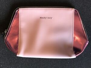Mary Kay • Cosmetics / Makeup / Travel Zippered Bag • Two-Tone Pink • New