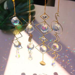 Crystal Sun Catcher Moon Prism Pendant Suncatcher Rainbow Handmade Hanging Decor