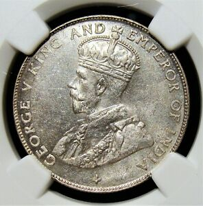 Straits Settlements: British Colony. George V 50 Cents 1920 - MS62 NGC.
