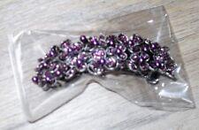 Barrette Strass cheveux élégante argentée et violet