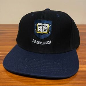 Yale University Hat Baseball Cap Snapback Adult NCAA adidas Black Retro College