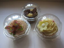 25 x LARGE 8.5cm clear Superior Quality CUPCAKE/MUFFIN cake clams boxes pods
