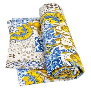 Cloth Furniture Cover Everything Tile Majolica Cotton Slip-Cover Bed Granfoulard