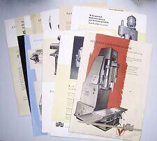 Konvolut Prospekte Werbeblätter DDR Bohrmaschine Maschine Schleifmaschine 1950er