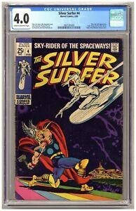 Silver Surfer #4 (CGC 4.0) Thor Loki Hulk Thing Hercules Marvel Comics 1969 B976
