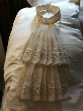 Victorian Antique Vintage Lace Dickey Double Chantillly like FrillyEcru Lingerie
