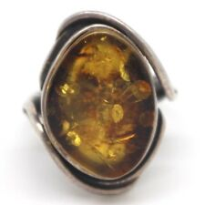 Ring Silver 925 With Amber, 0.3oz