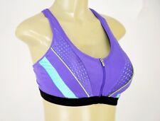 NWT Victoria's Secret VSX Crossback Zippered Underwire Yoga Bra 34DD  AA355A