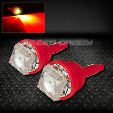 PAIR 1 SUPER FLUX LED T10 W5W 194 168 EXTRA RED INTERIOR DOME WEDGE LIGHT BULB
