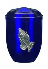 Azul Penzance Rezando Manos Cremación Cenizas Urna-UU150020A