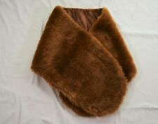 Adult Faux Fur Wrap Shawl Brown Prom Halloween Evening Ball Cosplay Handmade