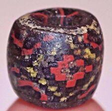 Ancient Islamic Multicolored Mosaic Checker Board Glass Bead Mali, African Trade