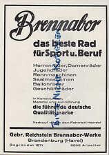 BRANDENBURG, Werbung 1928, Gebr. Reichstein Brennabor-Räder Fahrrad Sport Beruf