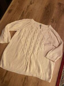 Celtic And Co Jumper Arran Knit Cream Size Large Top Shirt T-shirt
