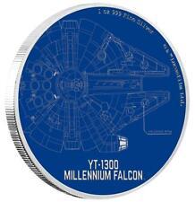 Niue - 2 Dollar 2017 - Millenium Falke - Star Wars Ships (1.) - 1 Oz. Silber PP