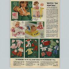 1978 ADVERTISEMENT Doll Baby Laugh Cry Jennifer Patti-Cake Drowsy Rub-A-Dub Tug
