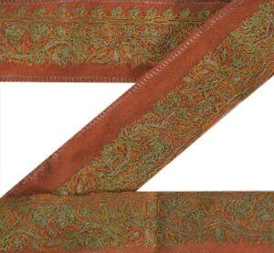 Sanskriti Vintage Saree Border Suzni Hand Embroidered Craft Trims Decor Lace