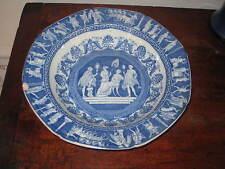 ENGLISH BLUE & WHITE CLASSICAL GREEK ROMAN SCENE BOWL EARLY 19 CENTURY PEARLWARE