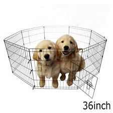 """36"""" Dog Cat Playpen Crate Fence Pet Play Pen Exercise Cage 8 Panels"""